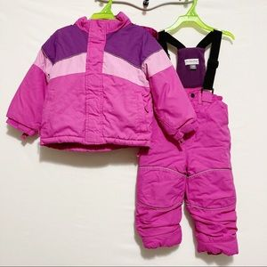 One Step Ahead 2 Piece Pink & Purple Snowsuit 24 M